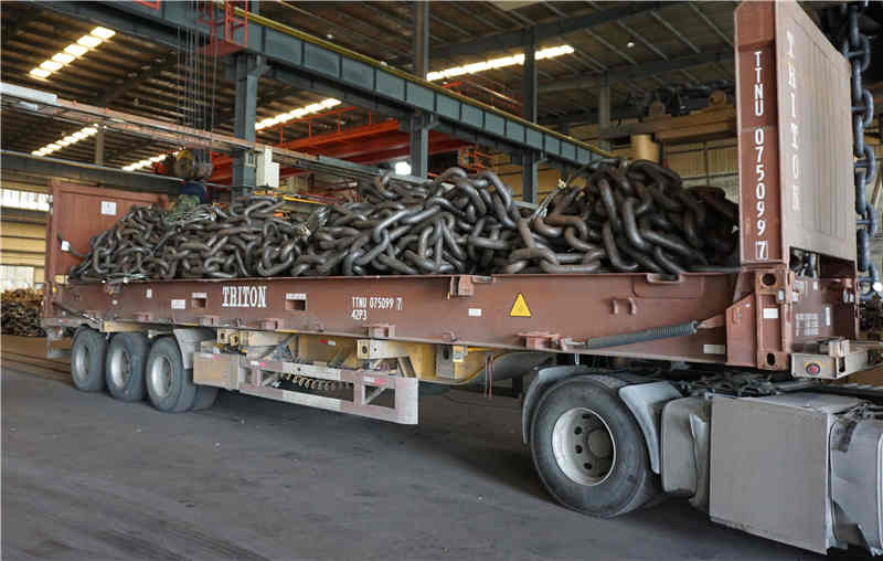 Mooring chain shipping